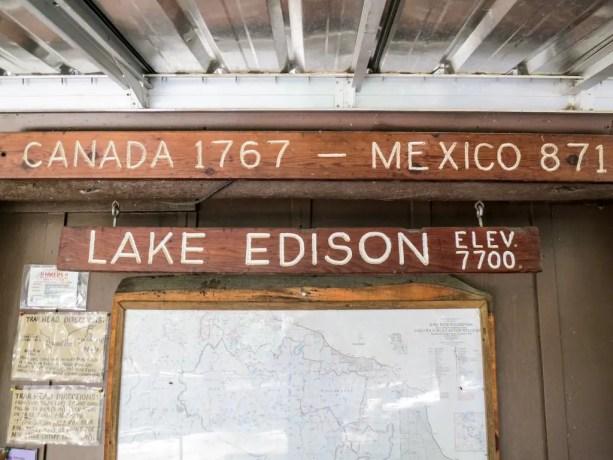 VVR Lake Edison PCT Sign