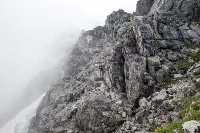 Mt Tsurugi Chains Rocks