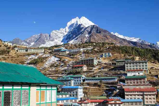 Nepal EBC Trek Namche Bazaar Mountain