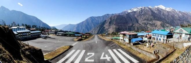 Nepal Lukla Airport Panorama