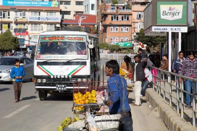 Kathmandu Fruit Vendor