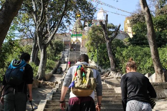 Kathmandu Monkey Temple Stairs