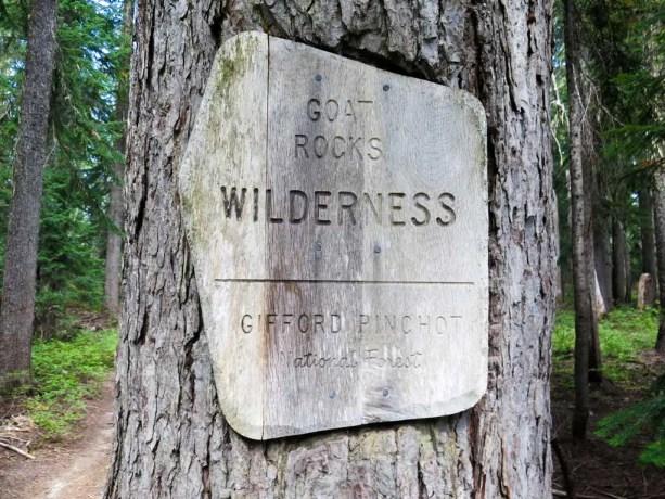 PCT-Washington-Goat-Rocks-Wilderness-Sign