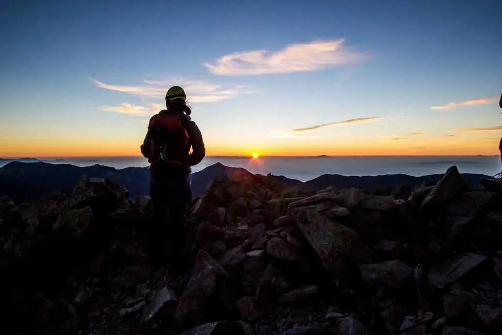 Japan-Kita-Alps-Okuhotaka-Hiker