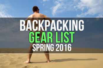 Backpacking Gear List (Spring 2016)