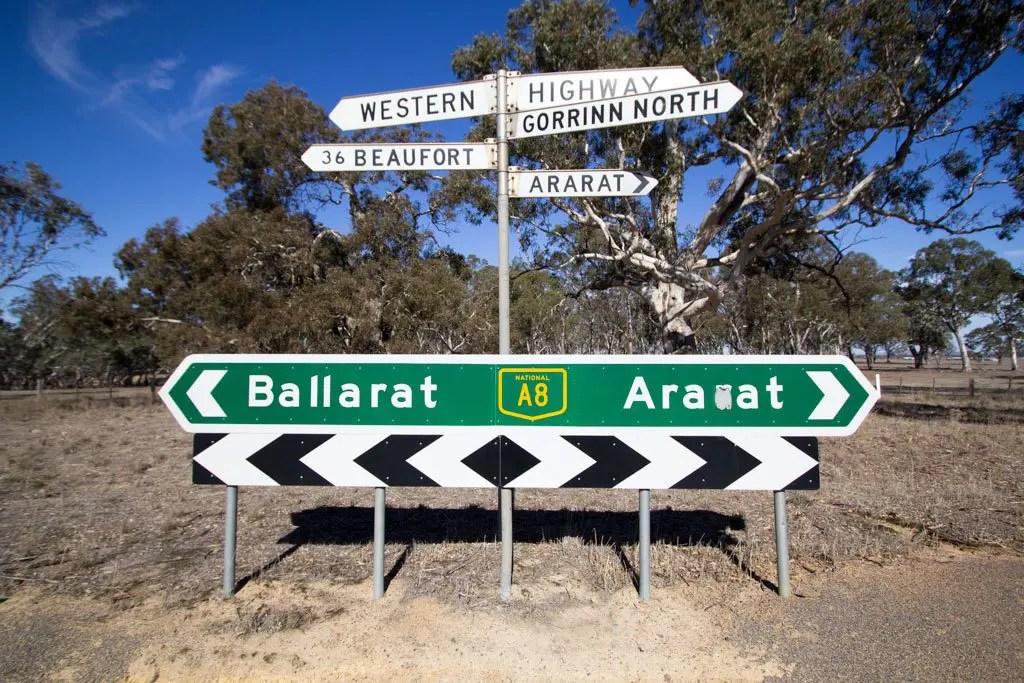 Australia-Ballarat-Ararat-Sign