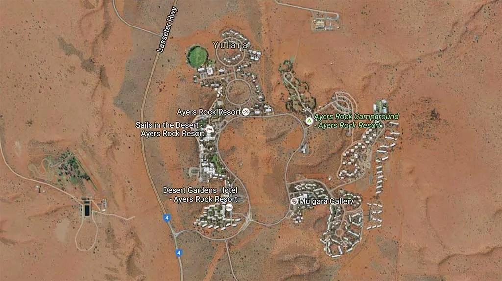 Yulara Campground Map
