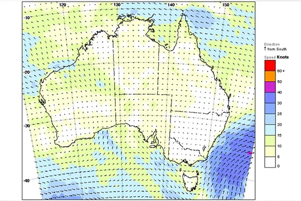 Australia-Wind-Map