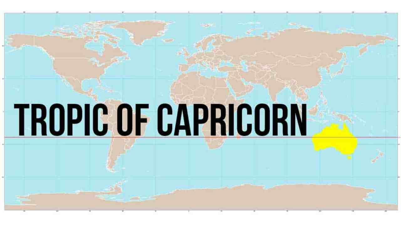 Australia Map Tropic Of Capricorn.Australia Bike Tour Day 46 The Tropic Of Capricorn Halfway Anywhere