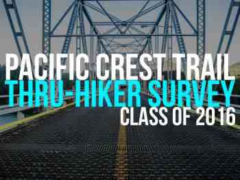 The Annual Pacific Crest Trail Thru-Hiker Survey (2016)