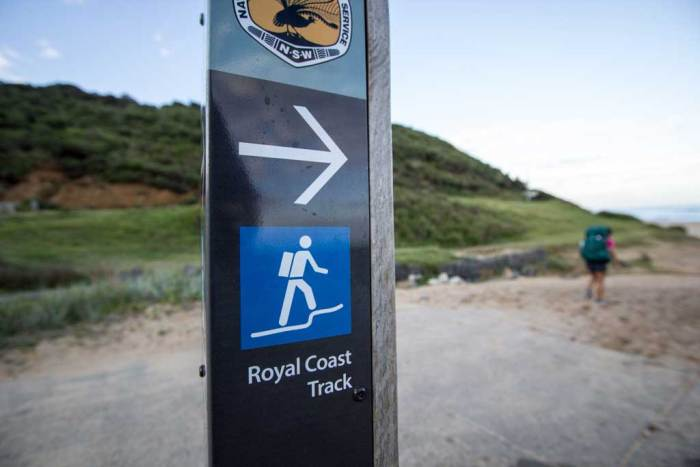Royal-Coast-Track-Sign-Hiker