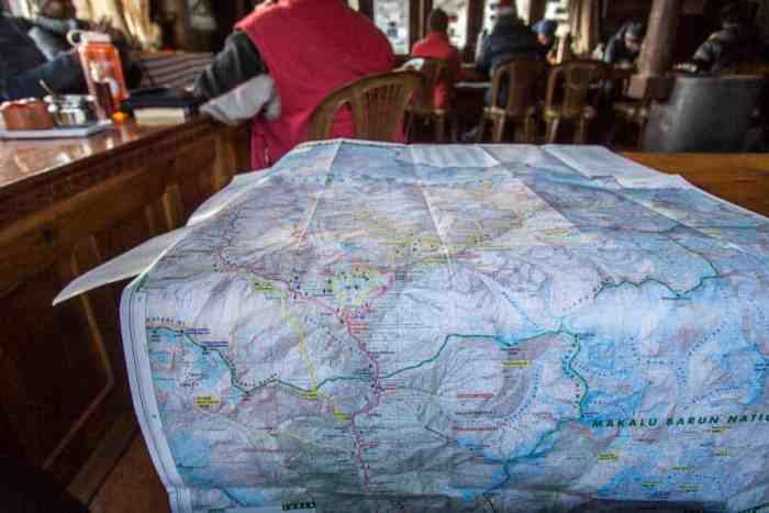 Nepal-Dingboche-Lodge-Map