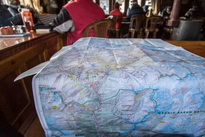 Nepal-Dingboche-Lodge-Map