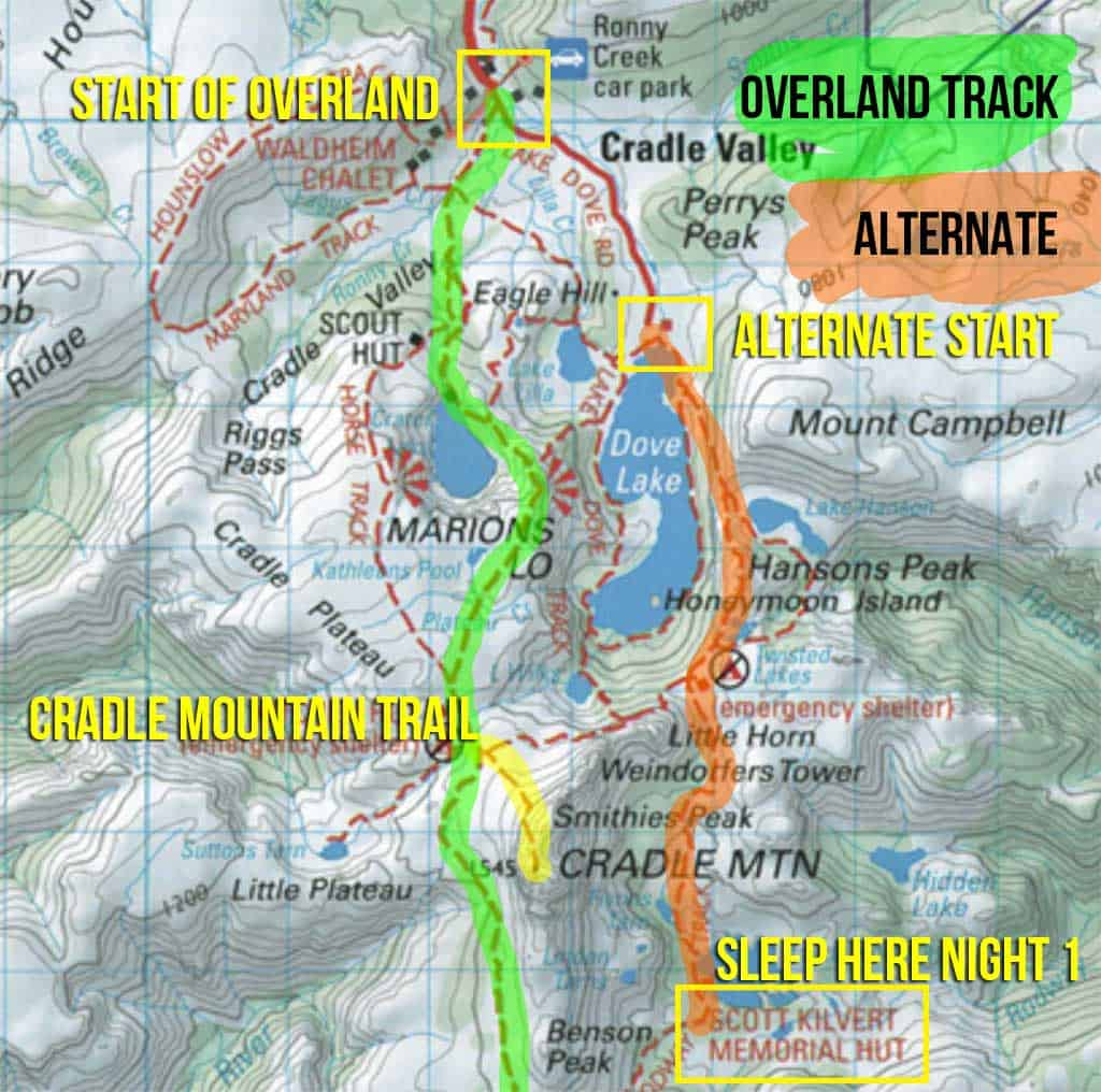 Overland Track Map Guide To Hiking The Overland Track In Tasmania | Halfway Anywhere
