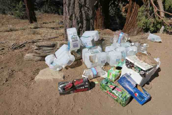 PCT-Desert-Trail-Magic-Trash