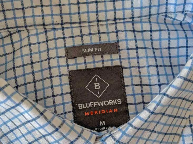 Bluffworks Meridian Dress Shirt 2 Tag