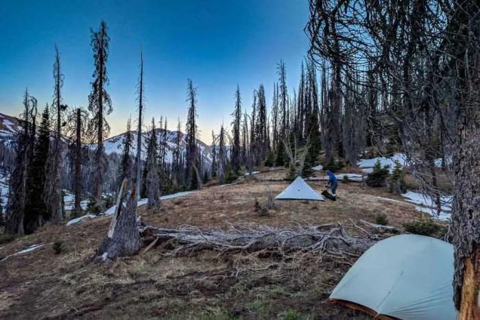 CDT-Colorado-Appa-Moist-Tents-Sunset