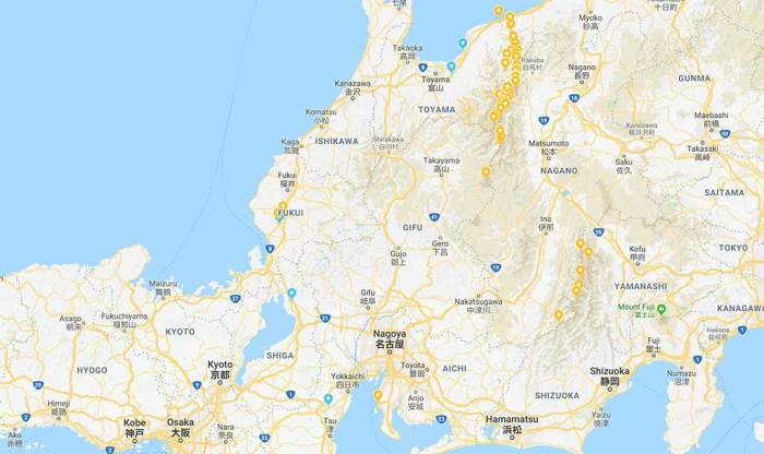 Google-Maps-Japan-Alps-Stars