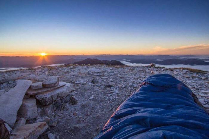 Tasmania-Frenchmans-Cap-Sunrise-Sleeping-Bag-Rocks