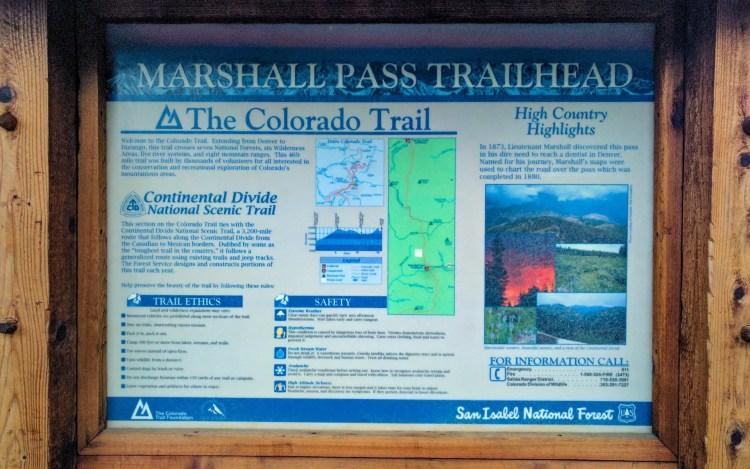 CDT Colorado Marshall Pass Sign