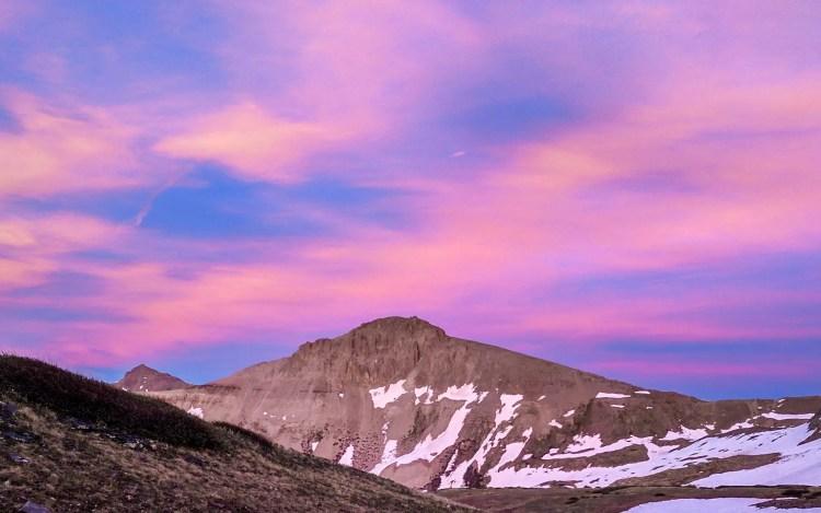 CDT Colorado Mountain Sunset