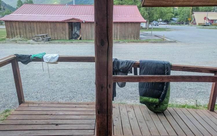 CDT Lake City Laundromat Gear Drying