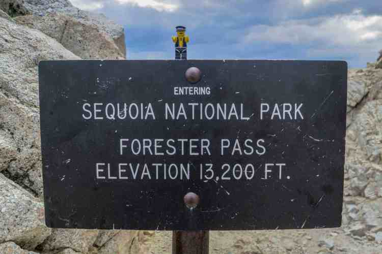 PCT Forester Pass Sign
