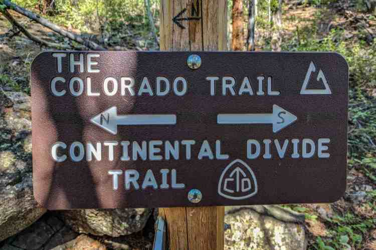 CDT Colorado Twin Lakes Sign