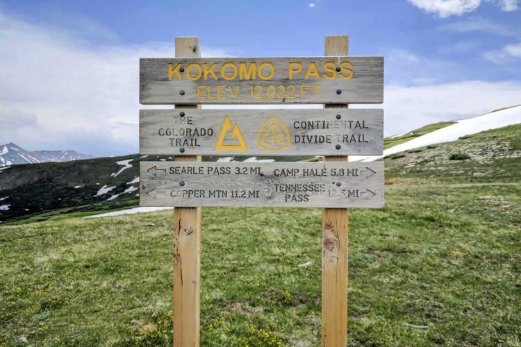 CDT Colorado Kokomo Pass