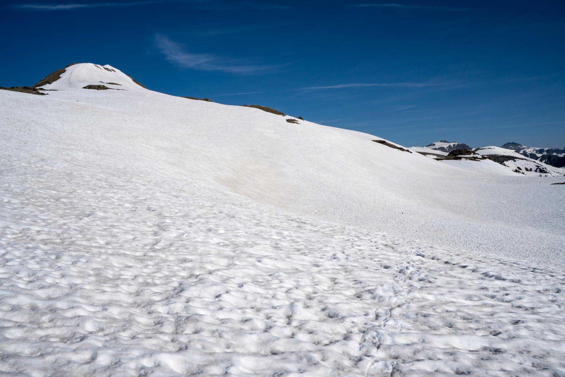 CDT Colorado San Juan Mountains Snowfield Hiking