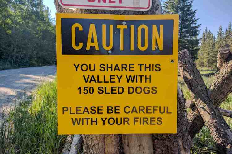 CDT Colorado Sled Dogs Sign