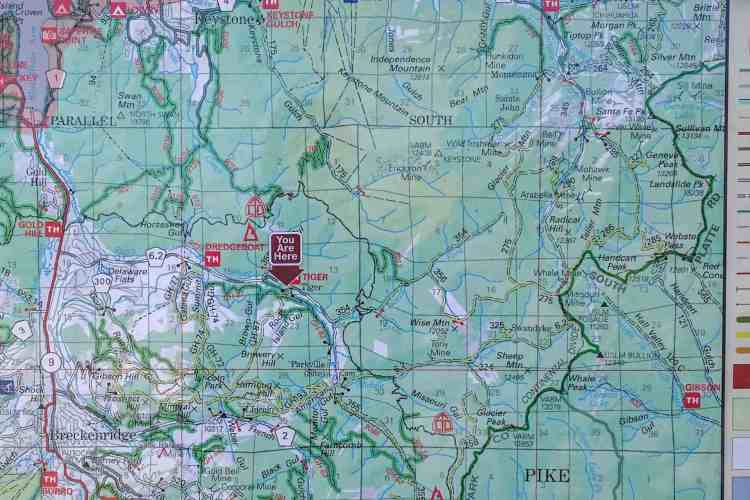 CDT Colorado Breckenridge Tiger Road Map