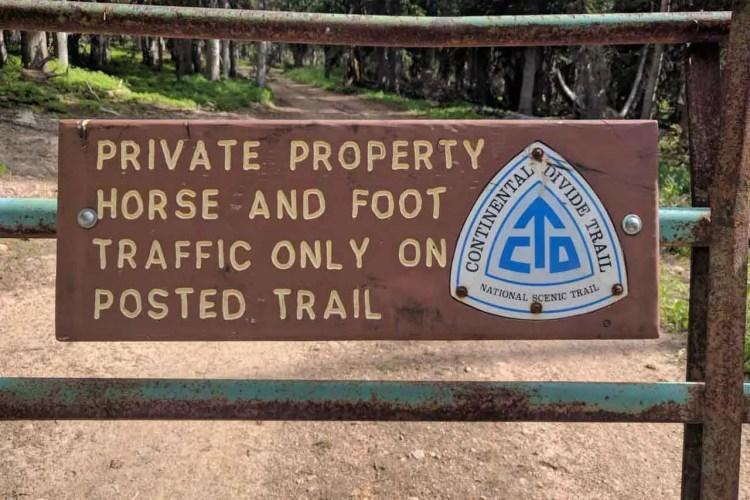 CDT Wyoming Old CDT Marker