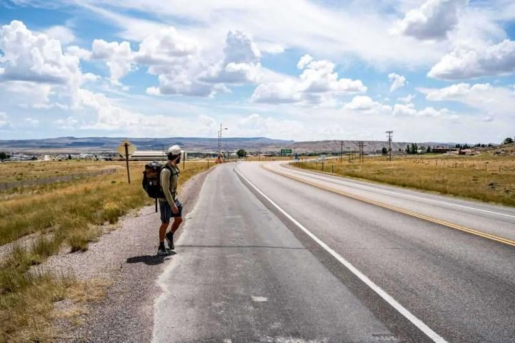 CDT Wyoming Rawlins Appa Road Walking