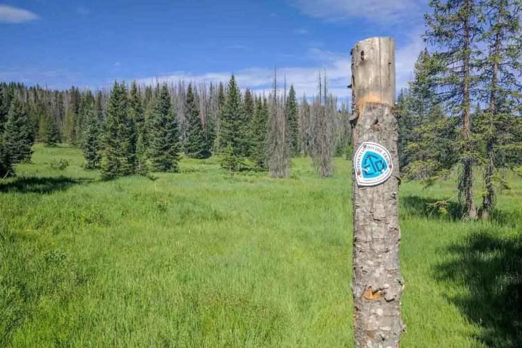 CDT Wyoming Trail Marker