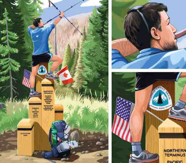 First Row PCT Northern Terminus Illustration 3