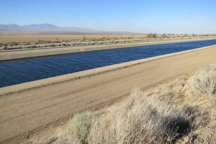 PCT Desert California Aqueduct