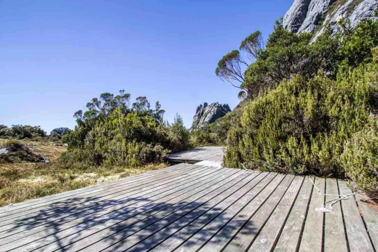 Tasmania Federation Peak Track Bechervaise Plateau Platforms