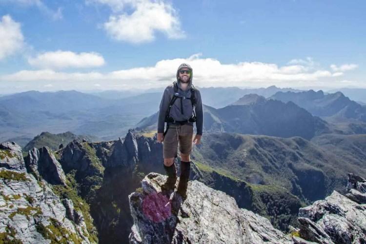 Tasmania Federation Peak Track Summit