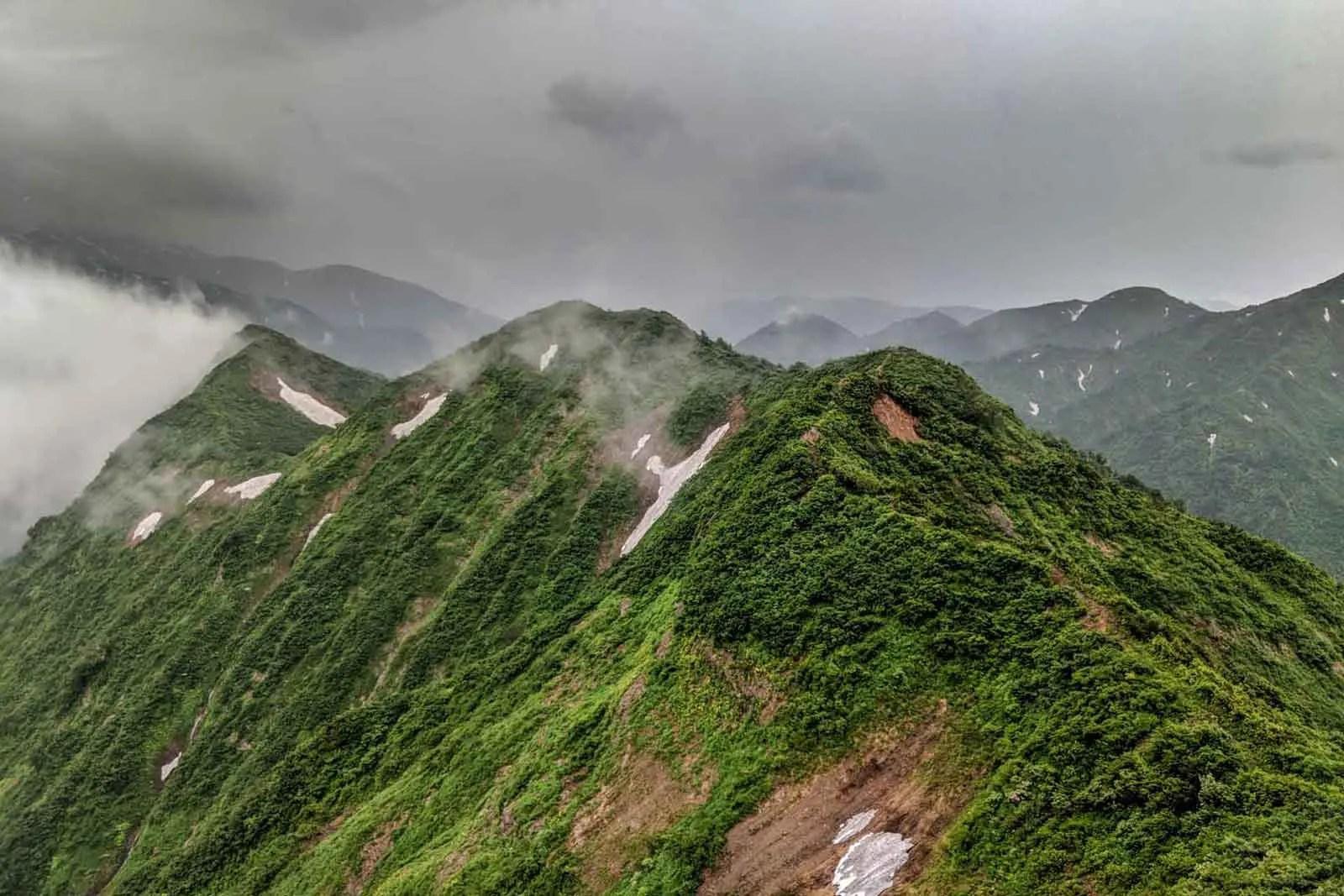 Japan Alps Traverse Kita Alps Rainy Ridgeline