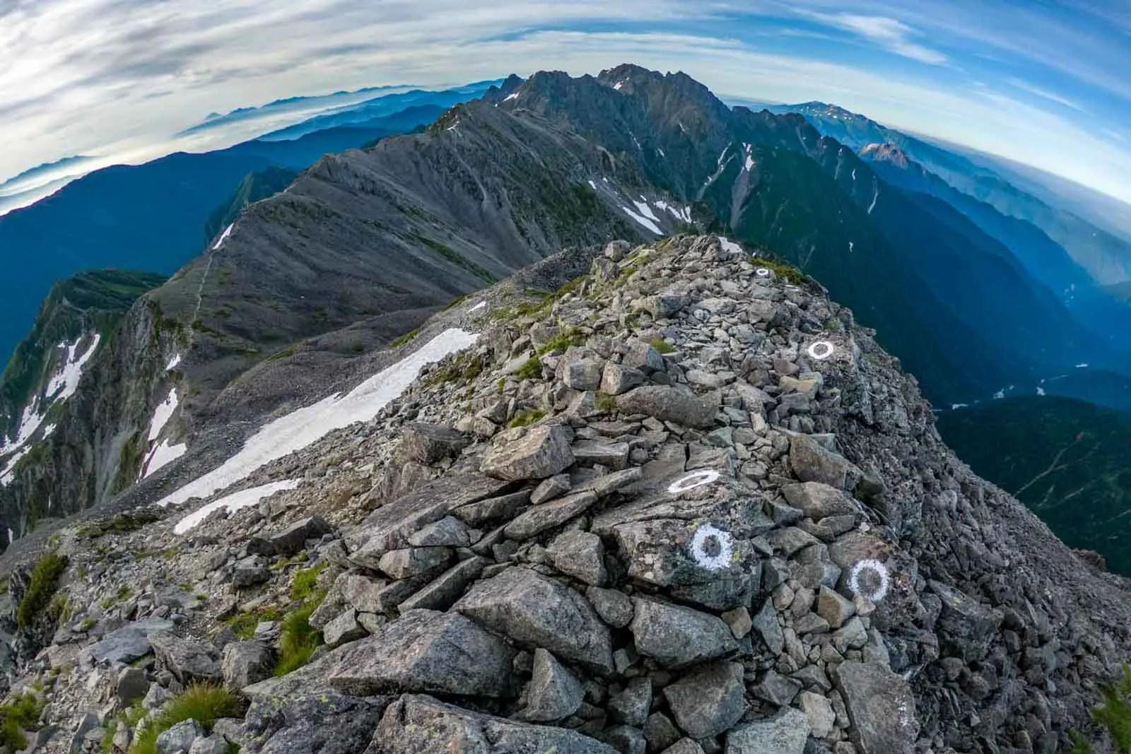 Japan Alps Traverse Kita Alps Morning Ridge
