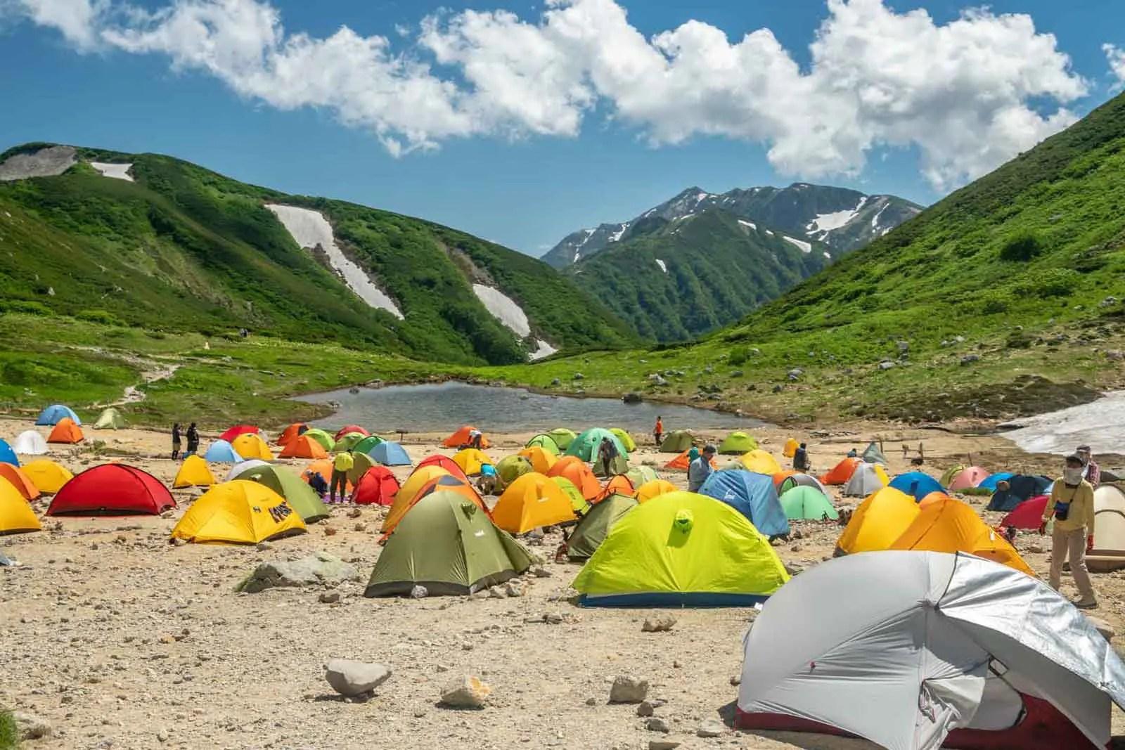 Japan Alps Traverse Kita Alps Sugoroku Campground