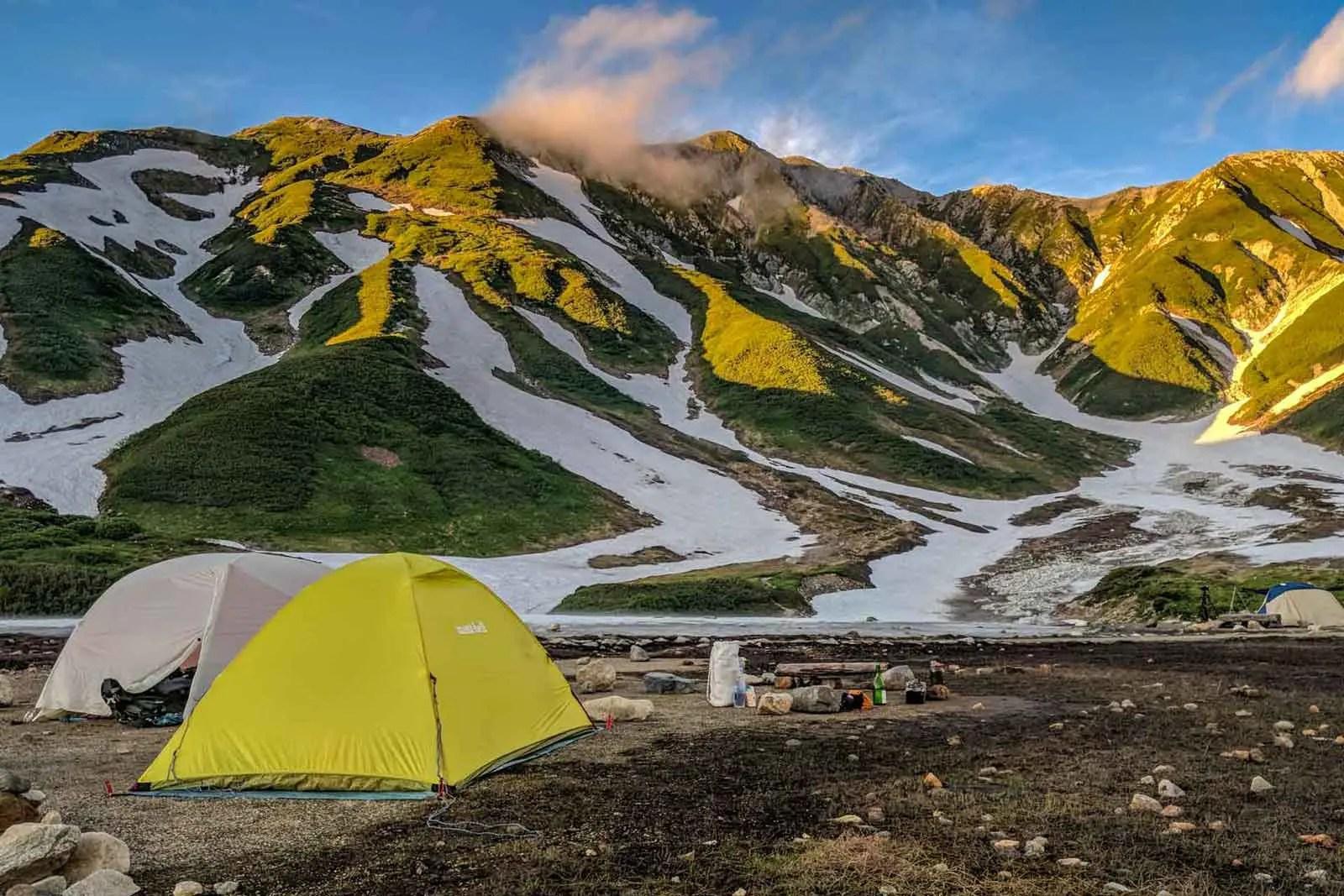 Japan Alps Traverse Kita Alps Tateyama campground