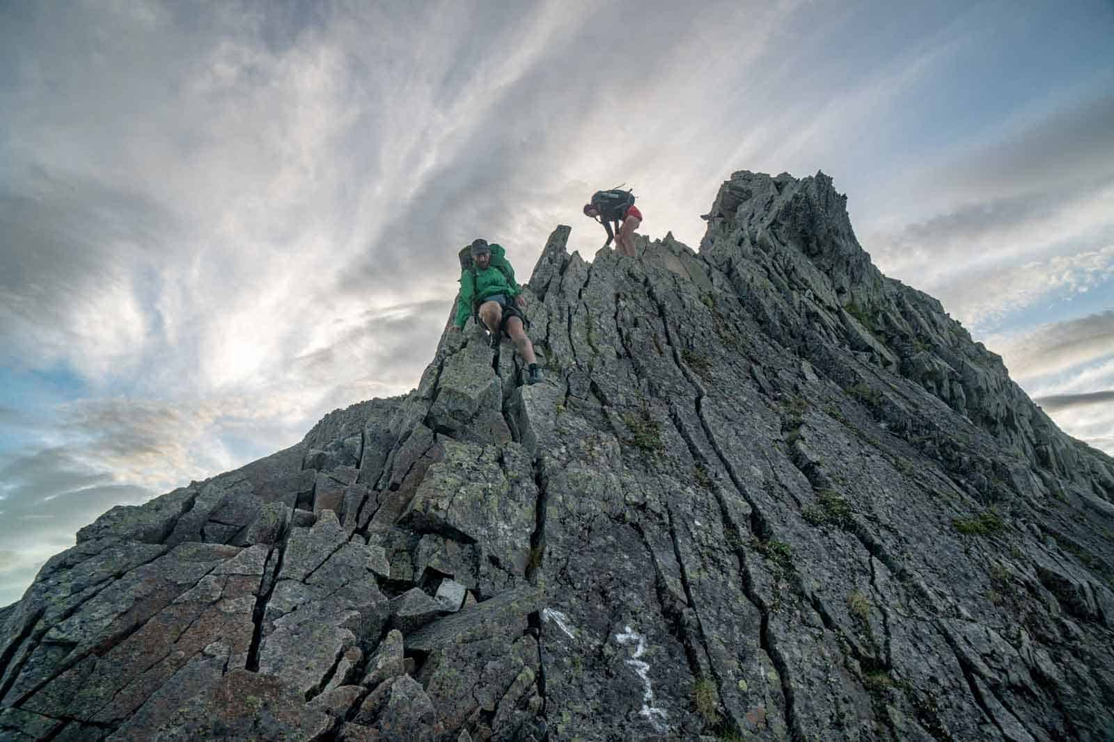 Japan Alps Traverse Kita Alps Steep Downclimb