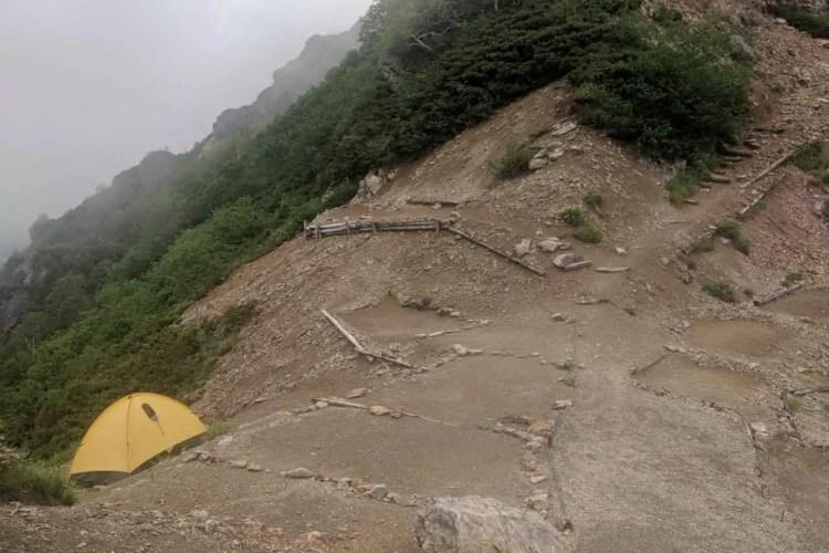 Japan Kita Alps Hut Camping Area