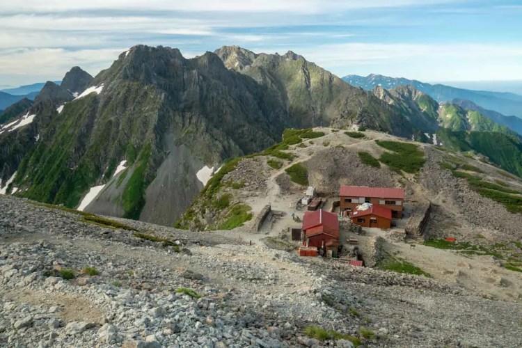 Japan Kita Alps Hut From Aboce