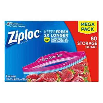 Ziploc Quart Storage Bags