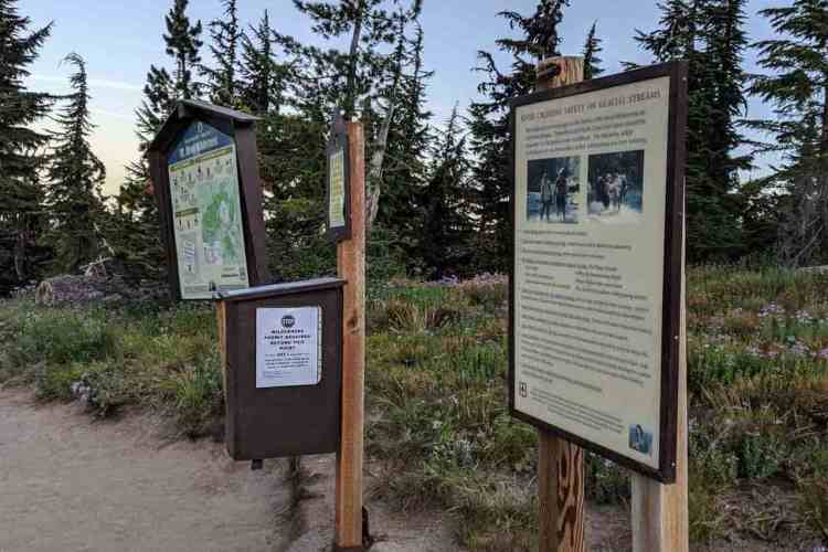 Oregon Mount Hood Timberline Trail Permit Station