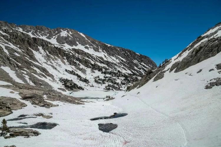 PCT Sierra Snow Muir Pass South