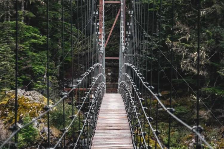 Washington Wonderland Trail Tahoma Creek Suspension Bridge